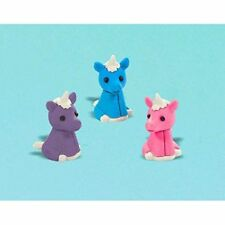 NEW Amscan Majestic Unicorn Erasers Value Pack of 12- Party Favors FREE SHIPPING