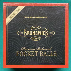 NEW Brunswick Centennial Pool Balls Belgian billiard ball set - FAST Free SHIP!