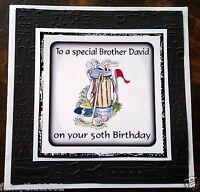 Mens Boys Handmade Personalised Birthday Card Golf Brother Grandad Son ANY AGE