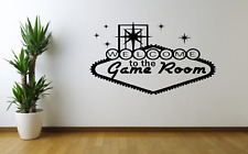 Welcome To The Game Room Girls Boys Wall Art Sticker Decal Home Decor O79
