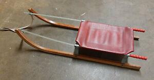 alter DDR Schlitten Rennschlitten Glasfiber Rodel Rennrodel Bobschlitten