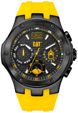 Men's Caterpillar CAT Navigo Multifunction Yellow Rubber Watch A116927131 OFFER!
