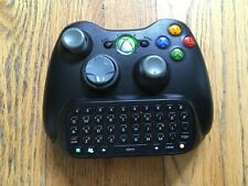 Microsoft Xbox 360 Black Wireless Controller w/ Chatpad Official / OEM / TESTED