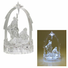 Christmas Light up Nativity Scene - Acrylic Decoration 19cm