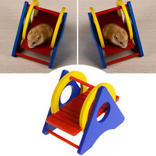 Rainbow Wooden Seesaw Exercise Sport Funny Toys For Small Animal Hamster Rat Pet