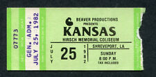 1982 Kansas Concert Ticket Stub Shreveport LA Dust In The Wind Leftoverture