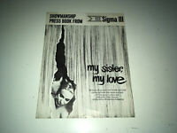 MY SISTER MY LOVE Movie Pressbook 1966 Swedish Sexploitation Bibi Andersson