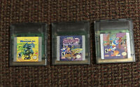3 NINTENDO GAME BOY COLOR Games - Monsters inc. Scooby Doo Goin' Quackers