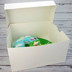 14 INCH White Standard Cake Box