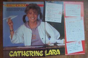 Catherine Lara les stars à l'école 3 pages top 50 , neuf .