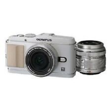 USED Olympus E-P3 12.3 MP with 14-42mm + 17mm White Excellent FREE SHIPPING