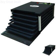 LEM Food Dehydrator 5 Tray 7 1/2 Sq. Ft. Drying Space Digital Timer 500W Black