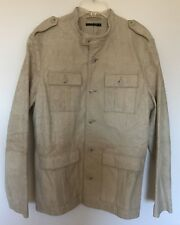 SISLEY Mens Leather Jacket Size 50 Large