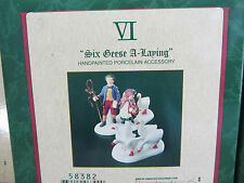 Dept 56 SIX GEESE A-LAYING - Twelve Days of Dickens  #58382   (1112&916SH)