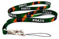 BRAZIL LANYARD NECK STRAP + MOBILE ID KEYS IPOD MP3 HOLDER