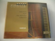 GREAT PIANISTS OF THE 20TH CENTURY 2 CD NEUF EMBALLE. SEALED COPY.