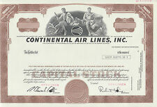 """Continental Airlines Inc."" Trio, Ny 1970-1980 Specimen (3) Diff. Certs Hv699"