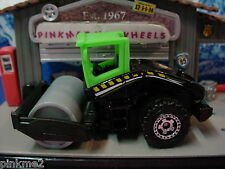 2012 Construction Design Ex ROAD ROLLER ∞Green & black w/gray∞NEW Loose Matchbox