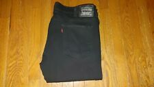 MENS LEVI 511 40X32 (TAG 38W) SLIM FIT STRETCH BLACK JEANS  FANTASTIC NO FRAY A+