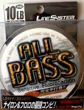 10lb Linesystem ALL BASS Fluorocarbon clear 300yds