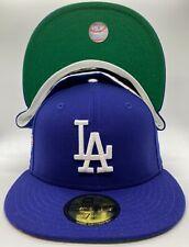 Custom LA Dodgers New Era 1988 World Series Patch 59Fifty Kelly Green UV