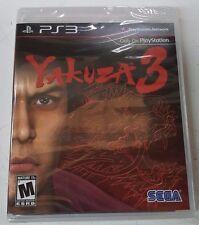 Yakuza 3 (Sony PlayStation 3, 2010 RE-PRINT) NEW FREE SHIPPING TO USA & CANADA