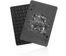 SolarMatrix Black Diamond Plastic Waterproof Playing Poker Cards Novelty Deck