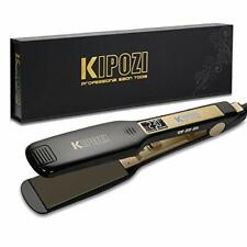 KIPOZI Professional Hair Straighteners UK Wide Plates with Digital LCD Display