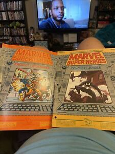 Tsr Marvel Super Heroes Rpg Concrete Jungle & Project Wideawake Character Roster