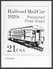 #2265 21c Railroad Mail Stamp Publicity Photo Essay