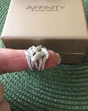 AFFINITY INTERWOVEN DIAMOND RING   QVC  NIB Size 7