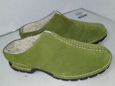 Cole Haan Green Suede Clogs Lined Split Toe Womens Size 7 B