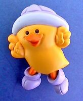 Hallmark PIN Easter Vintage DUCK RAIN Hat Boots Purple Holiday Brooch