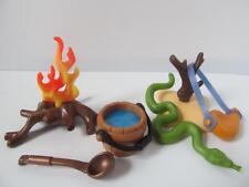 Playmobil Western/Pirate/Explorer Extras: feu de camp, bouteille d'eau, Serpent Nouveau