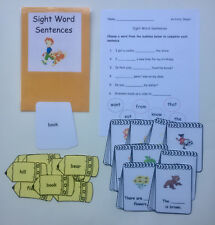 Teacher Made Literacy Center Learning Resource Game Sight Word Sentences