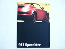 PORSCHE PROSPEKT KATALOG 911 Speedster 02/1993 +incl. Daten - Original dt.