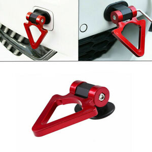 Red SUV Triangle Track Racing Style Tow Hook Look Decoration Car Accessories
