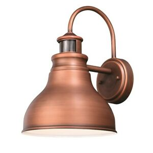 Vaxcel Delano Dualux 9' Outdoor Brass Wall Light, Brushed Copper - T0293