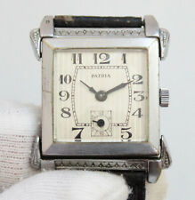 Patria early Omega Louis Brandt Art Deco Men`s Watch with articulated large lugs