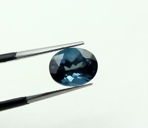 Natural London Topaz Swiss Blue Color Oval Faceted 9 x 7 mm Certified Gemstone