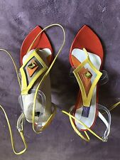 Emilio Pucci Sandals Size 37 US6'5-7 Made In Italy
