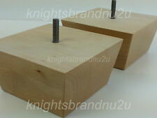 4x SOLID WOOD FURNITURE FEET LEGS FOR SOFAS CHAIRS STOOLS CABINETS & BEDS M10