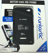 RUNTASTIC BATTERY CASE iPHONE 4 / 4S ZUSATZAKKU NEU RUNBAT1 Akku für Bike Navi