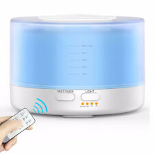 500ml Ultrasonic Oil Diffuser Air Cooling Mist Humidifier with 7 Color Light