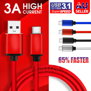 USB-C 3.1 Type C Data Cable Fast Charge For Samsung S21 S20 Ultra S10 5G S9 S8