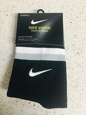 Nike Vapor Youth Baseball Tight Knit Stirrup Pair Black