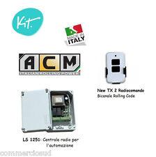 kit Centrale comando 1 Telecomando x l'automazione di serrande saracinesche ACM
