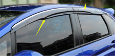 4PCS Door Side Window Rain Deflectors Guard Visor Cover For Honda Fit/Jazz 15-17