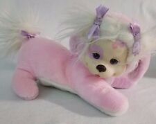 Puppy Surprise 8800 Pink and White Plush Mommy Dog Purple Bows Hasbro 1991