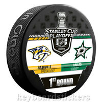 Nashville Predators vs Dallas Stars 2019 Playoffs Dueling Hockey Puck - NEW